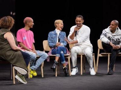 Will, Jaden and Jada Smith Visit Apple Park for Environmental Discussion