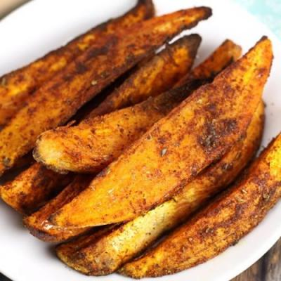 Oven Roasted Cajun Sweet Potatoes