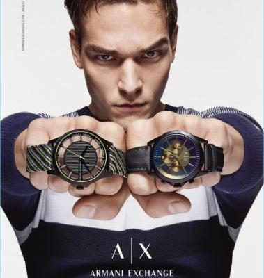 Alexandre Cunha Stars in Armani Exchange Fall '17 Watch Campaign