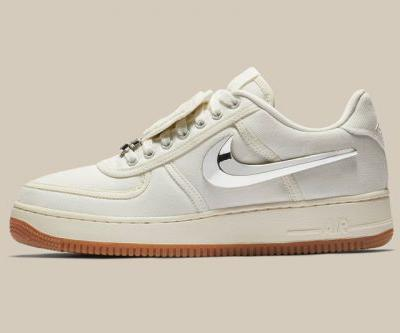 "The Travis Scott x Nike Air Force 1 ""Sail"" Sneaker Finally Gets a Release Date"