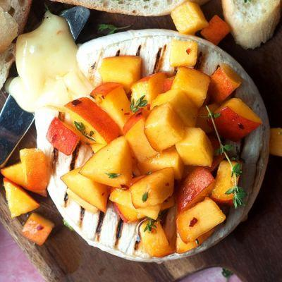 Grilled Brie with Peaches