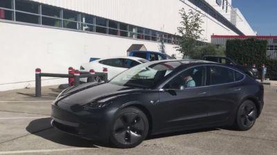 Here's A Closer Look At The Production Tesla Model 3
