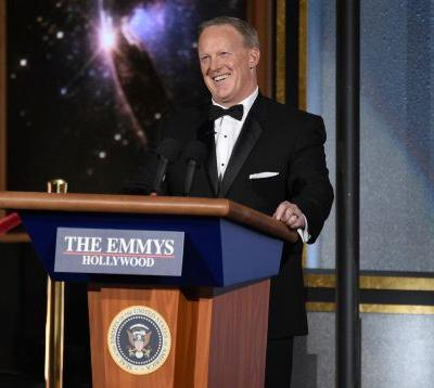 At the 2017 Emmys, Sean Spicer and 'The Handmaid's Tale' share the stage