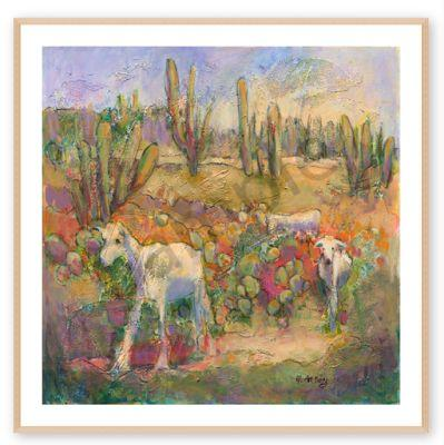 "FINE ART PRINT,Contemporary Impressionist Landscape, ""Tourists"" by Passionate Purposeful Painter Holly Hunter Berry"