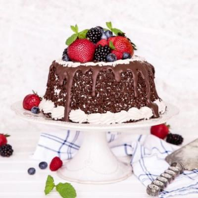 Very Berry Chocolate Ice Cream Cake