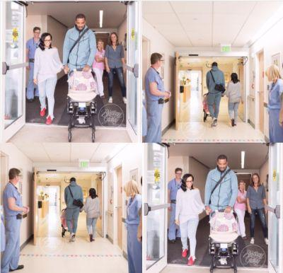 J.R. Smith and wife Jewel Harris bring baby daughter Dakota home from hospital Tuesday after five months in NICU