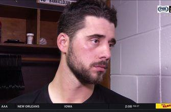 Kyle Barraclough talks about his blown save against the Rays