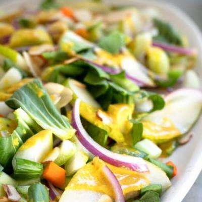 Bok Choy Salad with Ginger Dressing