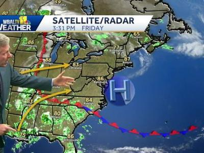 Muggy, sct. t'storms to start Memorial Day Weekend