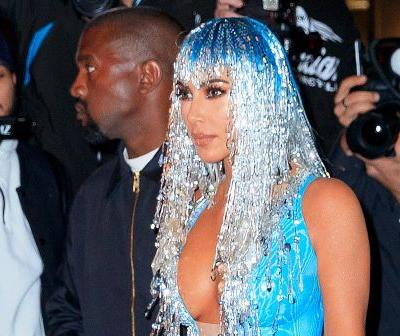 Kim Kardashian dresses as a sexy rain drop for Met Gala afterparty