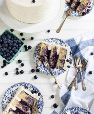 Triple Blueberry Cake