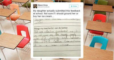 11-year-old accuses her teacher of a war crime in teacher evaluation