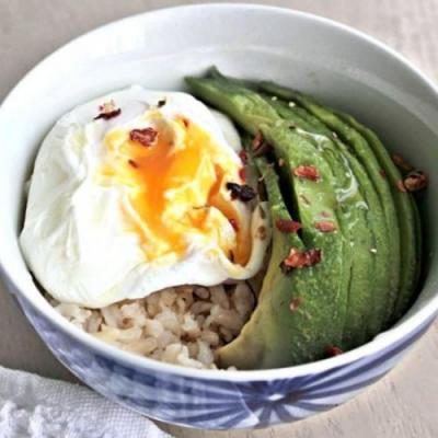 Avocado Rice Breakfast Bowl