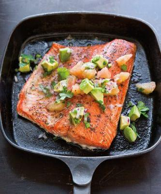 Roasted Salmon with Avocado and Grapefruit Salsa