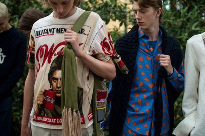 Jonathan Anderson puts pictures of himself in new collection