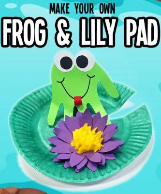 Frog on Lily Pad How To Craft for Kids