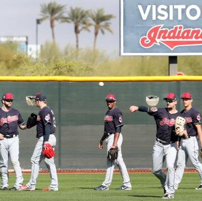 Indians spring training: First full-squad workout, position battles and more