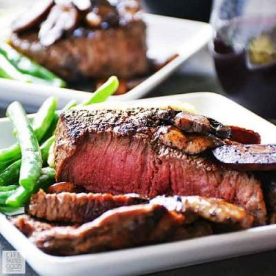 Pan Seared Sirloin Steak Dinner for Two