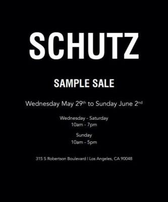 SCHUTZ SAMPLE SALE: SALESHOES FANS, DO NOT MISS BRAZILIAN'S NUMBER ONE FOOTWEAR BRAND!