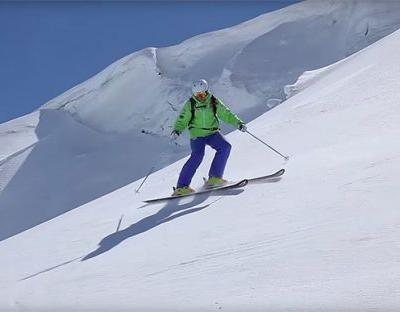 Skiing technique: learn controlled side slipping on steep slopes