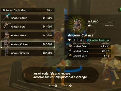 Zelda: Breath of the Wild - how to get the Ancient Armor