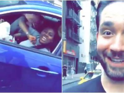 Proud husband Alexis Ohanian shares video of fans stopping him on the street to show their support for his wife Serena Williams