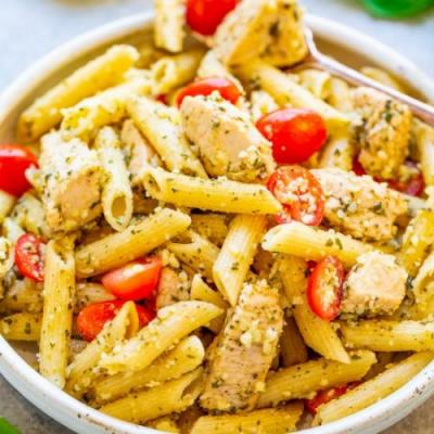 Pesto Parmesan Chicken & Pasta