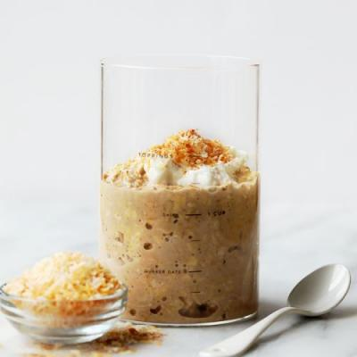 Coconut Latte Overnight Oats {vegan and gluten free}