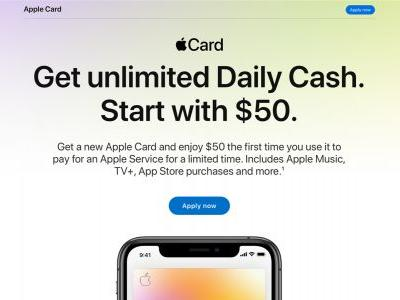 New Apple Card promo offers $50 bonus when you sign up for an Apple service
