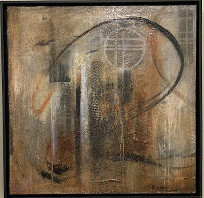 """Contemporary Art, Mixed Media,Expressionism """"Hidden Figure"""" by Texas Contemporary Artist Sharon Whisnand"""