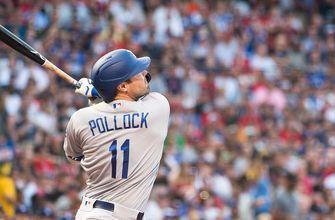 A healthy A. J. Pollock starts off scoring but Dodgers need 12 innings to get the victory