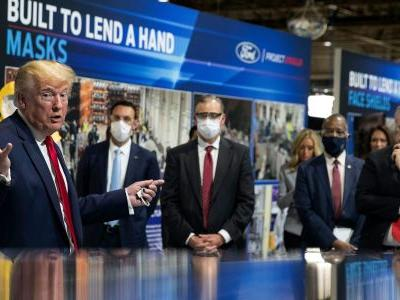 Trump praises Henry Ford's 'good bloodlines' while touring Michigan manufacturing plant