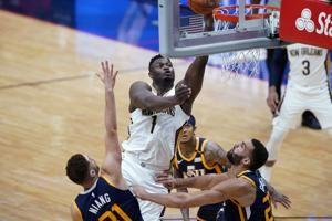 Williamson pushes Pelicans past NBA-leading Jazz, 129-124