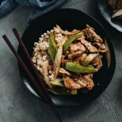 Asian Pork Stir Fry with Peppers