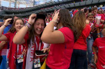 Watch Panama fans react to their nation's first ever FIFA World Cup goal