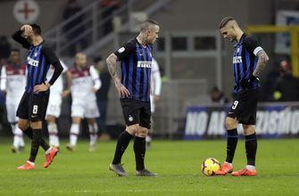 Fans jeer Inter after 1-0 home defeat to Bologna