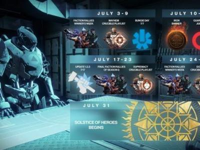 Destiny 2's Solstice of Heroes event and Crucible playlist changes coming in July
