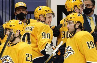 Blue Jackets allow four third-period goals, lose to Predators 5-2