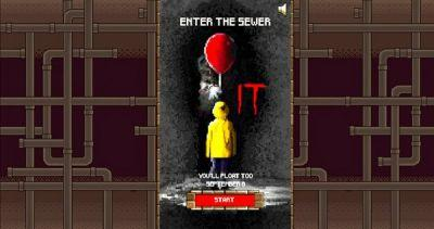 Fight Pennywise in Spooky IT 8-Bit Video Game