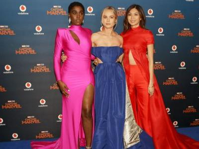 The Stars of 'Captain Marvel' Had a Collectively Major Fashion Moment at the Film's London Premiere