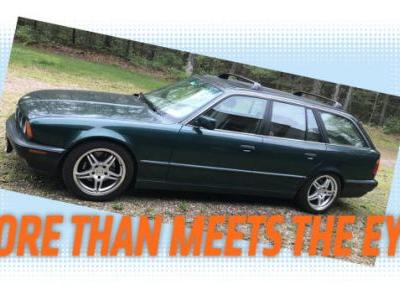 This Manual 1993 BMW 525i Wagon Actually Has a V12 From an 8 Series