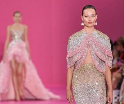 The Bird of Paradise Georges HOBEIKA Couture Collection radiates