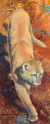 "Original Wild Cat Painting ""Puma"" by Colorado Artist Nancee Jean Busse"