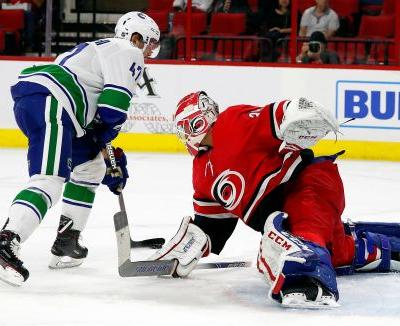 Aho's 2-point night leads Hurricanes past Canucks 5-3