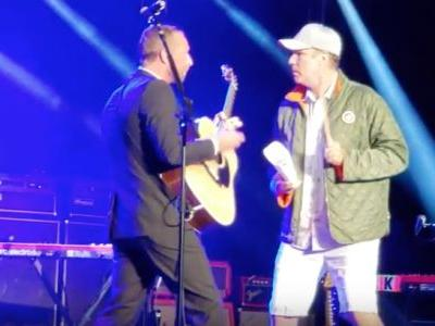 """Watch Will Ferrell Add More Cowbell To Chris Martin's """"Viva La Vida"""" At Cancer For College Benefit"""