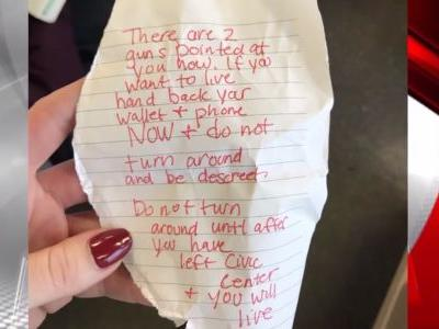 Woman fakes seizure to avoid would-be mugger that handed her frightening note