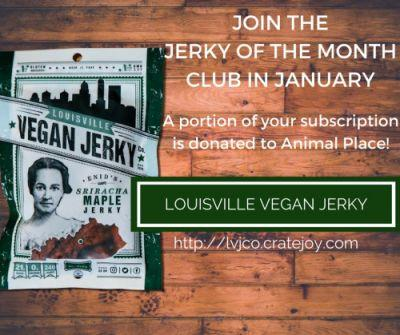 Subscribe to Louisville Vegan Jerky's Jerky of the Month Club in