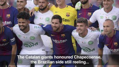 Football: Barca move on from Neymar to honour Chapecoense