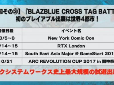 Playable BlazBlue Cross Tag Battle is coming to New York Comic Con, RTX London, and more