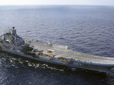 Fire on Russia's only aircraft carrier injures 2